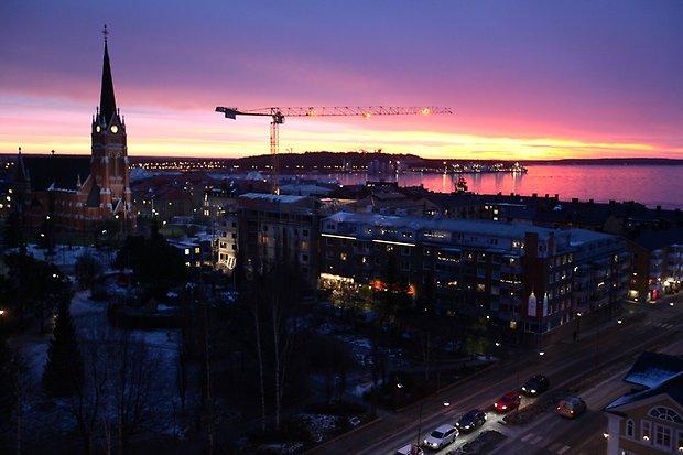 Rekordmånga byggkranar i Luleå