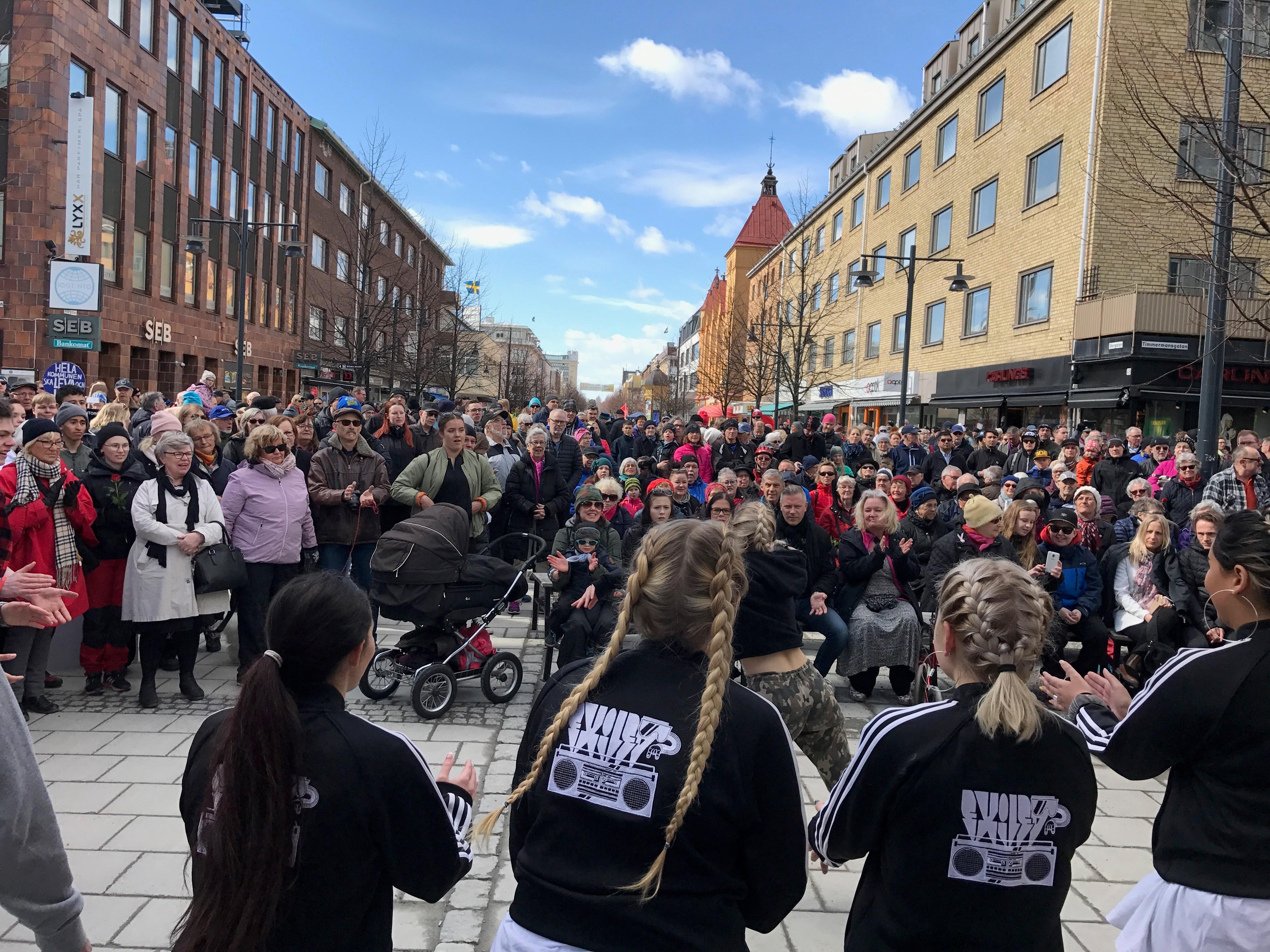 Demonstrera på Första Maj i Luleå